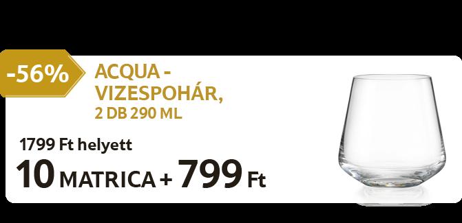 Acqua - Vizespohár