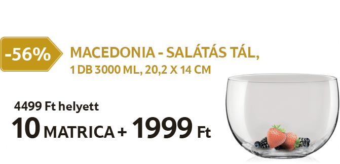 Macedonia - Salátás tál