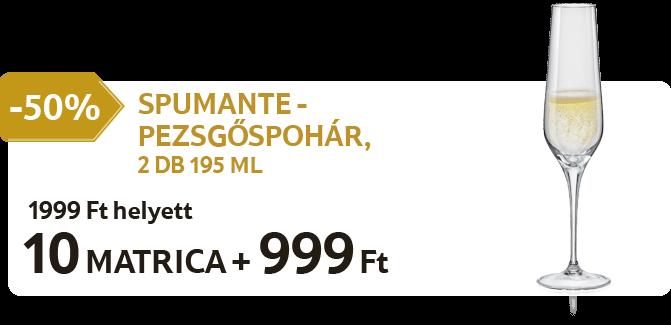 Spumante - Pezsgőspohár