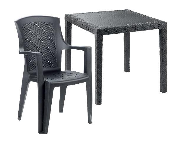 Rattan hatású kerti szék vagy négyszögletű asztal akciós ár: 3999 ...