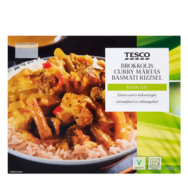 Tesco brokkolis curry mártás basmati rizzsel