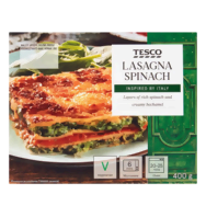 Tesco spenótos-ricottás lasagne