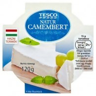 Tesco natúr camembert 120 g