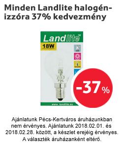 Minden Landlite halogénizzóra 37% kedvezmény
