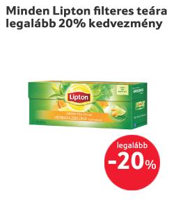 Minden Lipton filteres teára legalább 20% kedvezmény