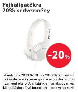 Fejhallgatókra 20% kedvezmény