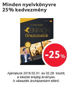Minden nyelvkönyvre 25% kedvezmény