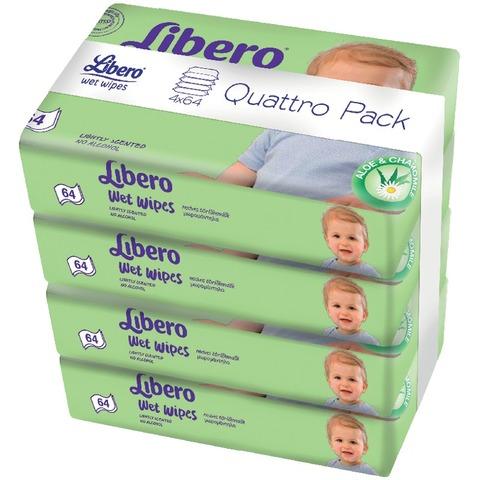 Libero nedves törlőkendő négyes kiszerelés