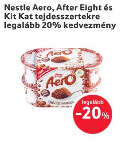 Nestle Aero, After Eight és Kit Kat tejdesszertekre legalább 20% kedvezmény