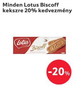 Minden Lotus Biscoff kekszre 20% kedvezmény