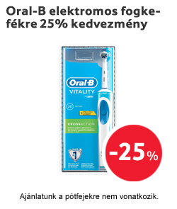 Oral-B elektromos fogkefékre 25% kedvezmény