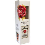 Jim Beam Bourbon whiskey vagy Jim Beam Red Stag, Honey, Apple + ajándék 1 db long drink pohár