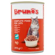 Brunos teljes értékű állateledel felnőtt macskák számára falatok hallal  szószban 415 g 328098c1c9