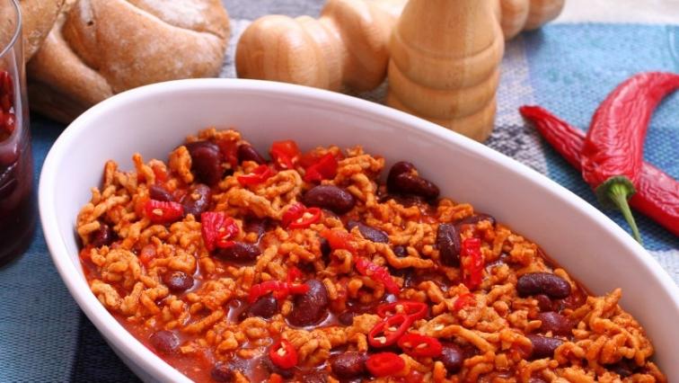 Mexikói chilis bab hagymával